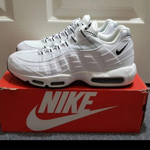 Nike Air Max 95 White Black Shoes New in Box NWT